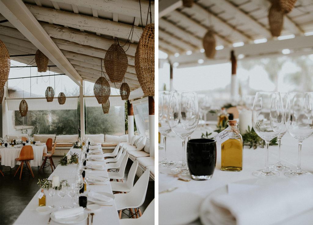 Table mariage à l'hotel mas lazuli à rosas