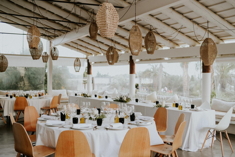 Table de mariage à l'hotel mas lazuli rosas