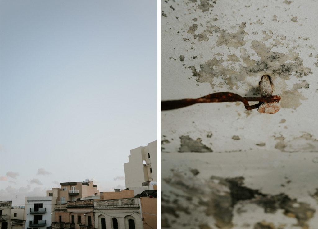 Voyage Malte - Bâtiment et clou dans un mur