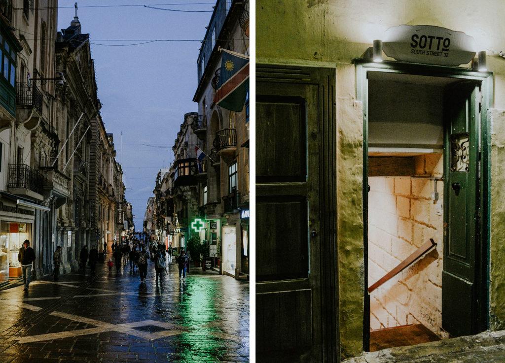 La Valette de nuit - Sotto Pizzeria - Malte