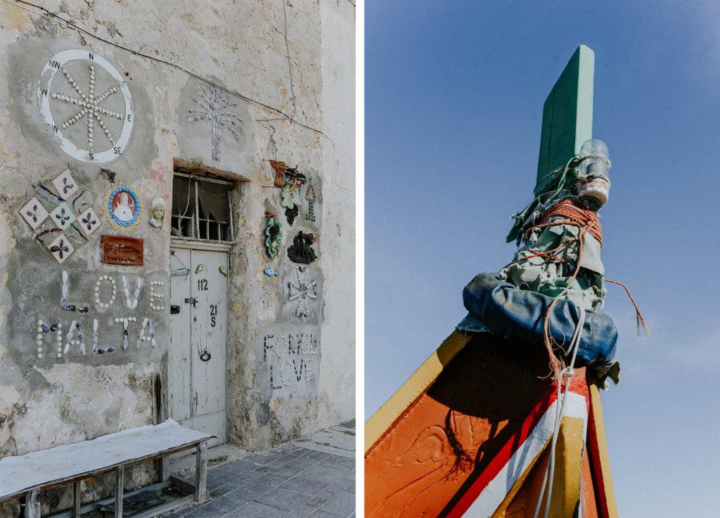 Mur décoré - Avant d'une barque maltaise - Marsaxlokk