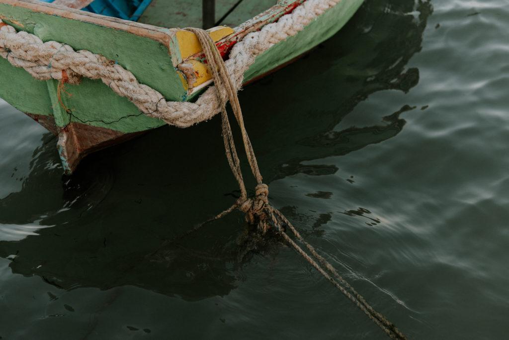 Corde dans l'eau - Marsaxlokk
