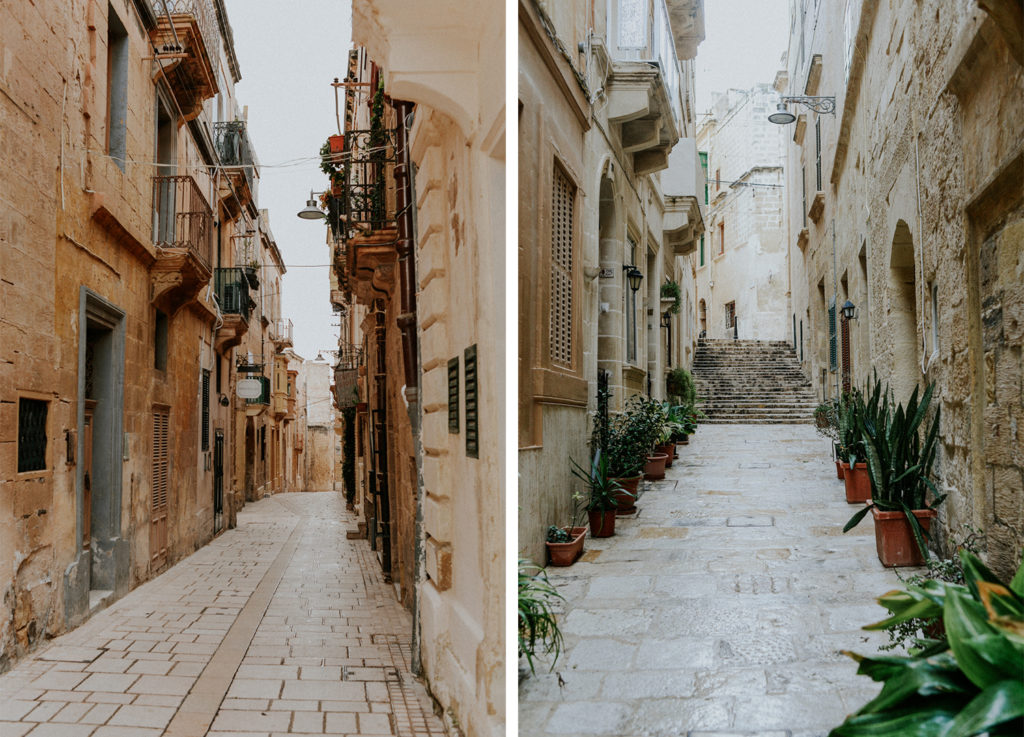 Rues de la ville de Cittadella à Gozo - Voyage Malte