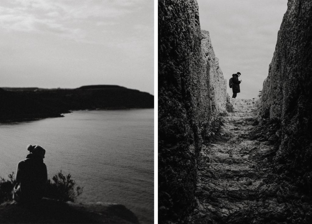Portrait homme et femme en noir et blanc - Tal-Mixta Cave - Gozo