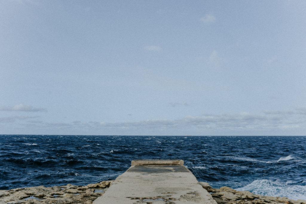 Ponton donnant sur la mer - Gozo